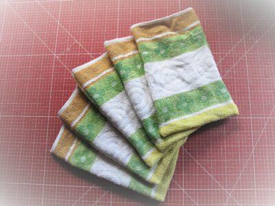 Waschhandschuhe aus Handtuch